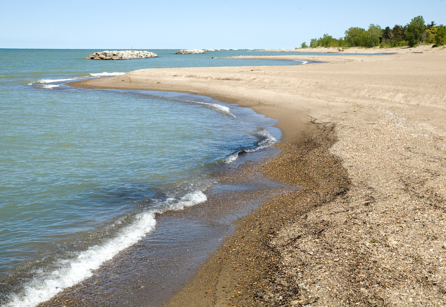 Presque Isle State Park along the shores of Lake Erie.