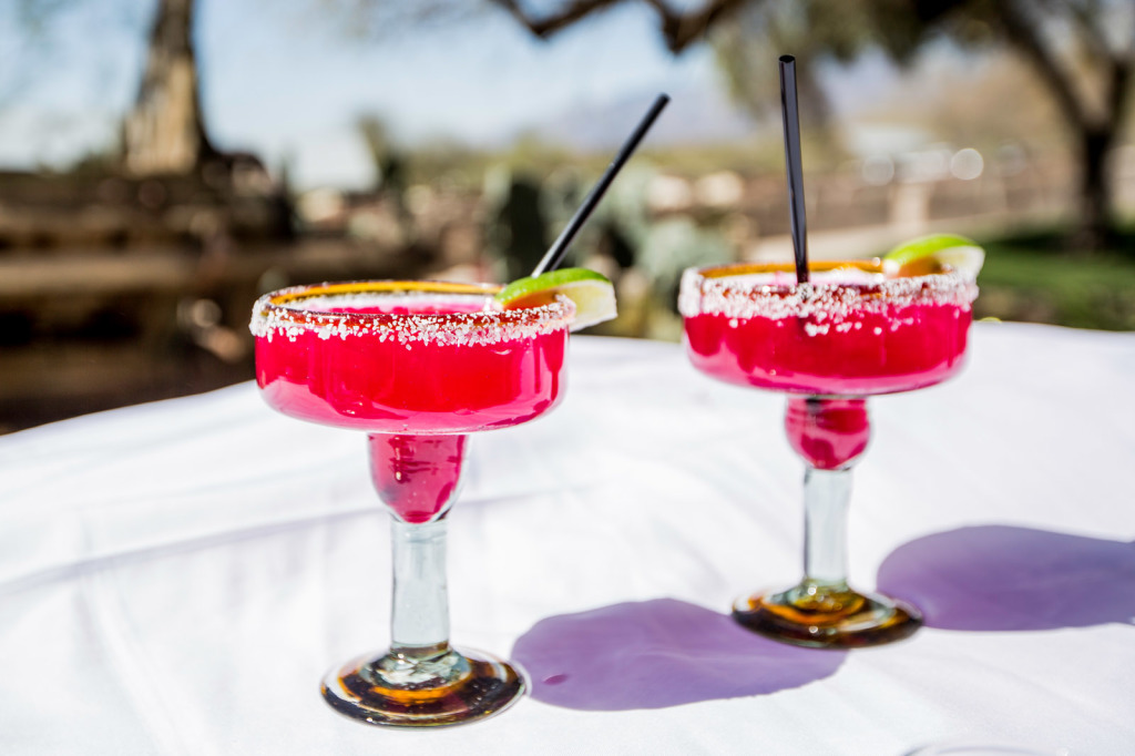 Prickly pear maragaritas from Tanque Verde Guest Ranch.