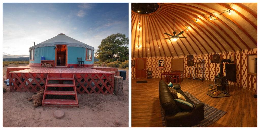 Primitive Yurt Camping Tent in Fort Defiance, Arizona.