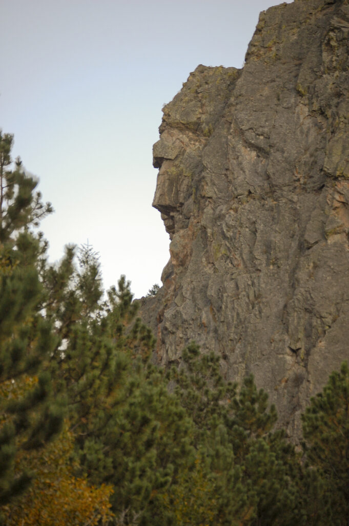Profile Rock near Old Poudre City.
