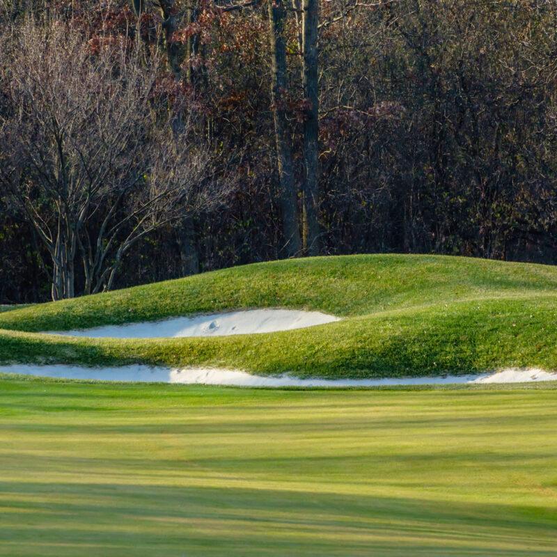 Public golf course in late autumn.
