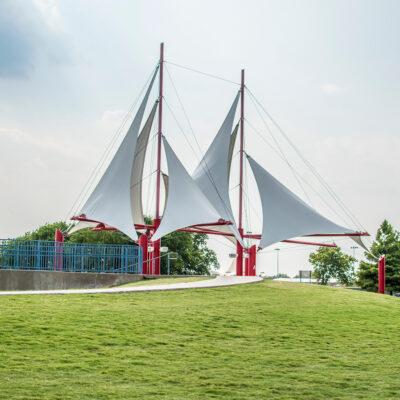Public park in Plano, Texas.