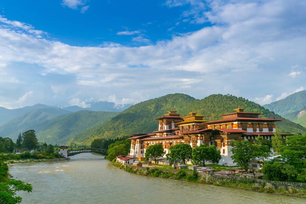 Punakha Dzong Monastery in Bhutan.