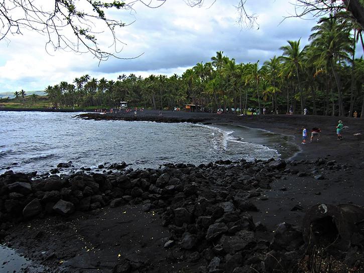 Punalu'u Beach black sand Hawaii