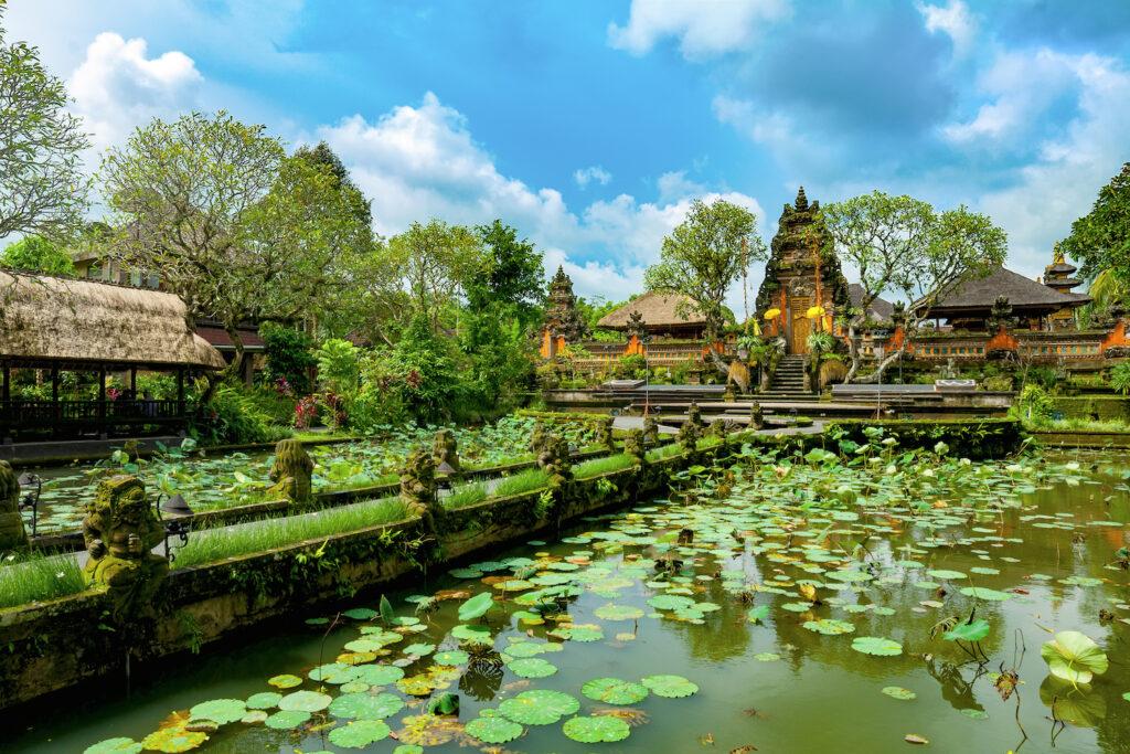Pura Taman Saraswati temple in Ubud, Bali