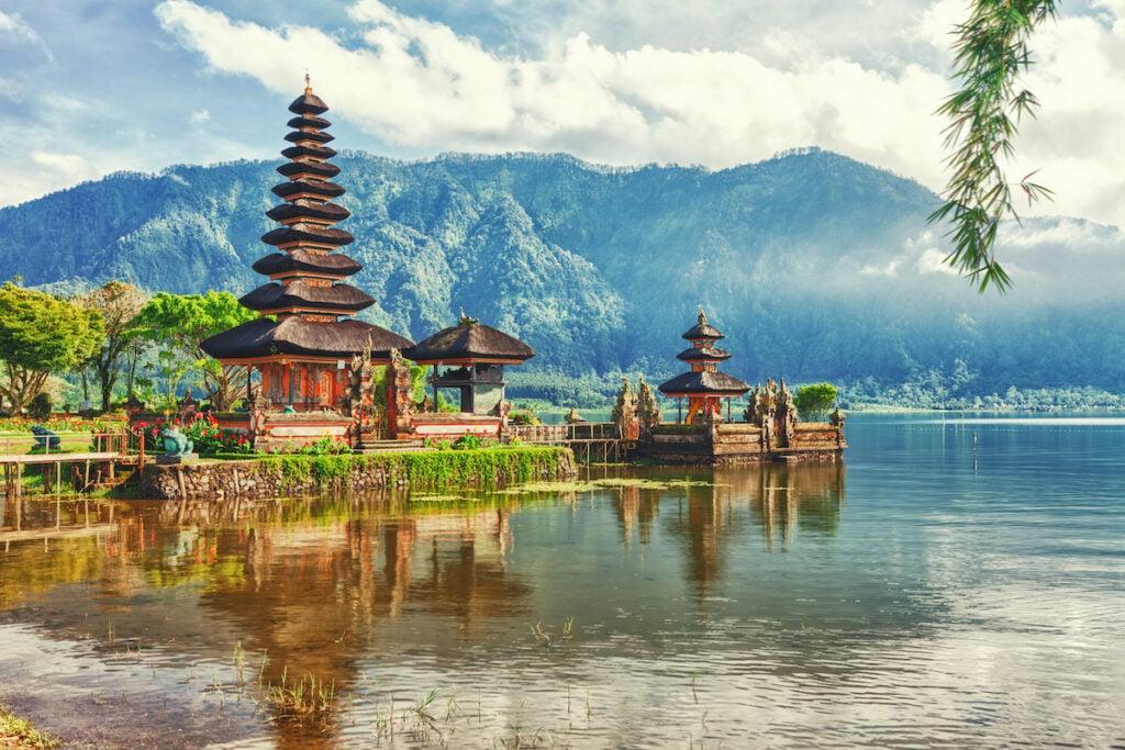 Pura Ulun Danu Beratan temple in Bali, Indonesia.