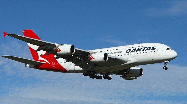 Qantas airline airplane