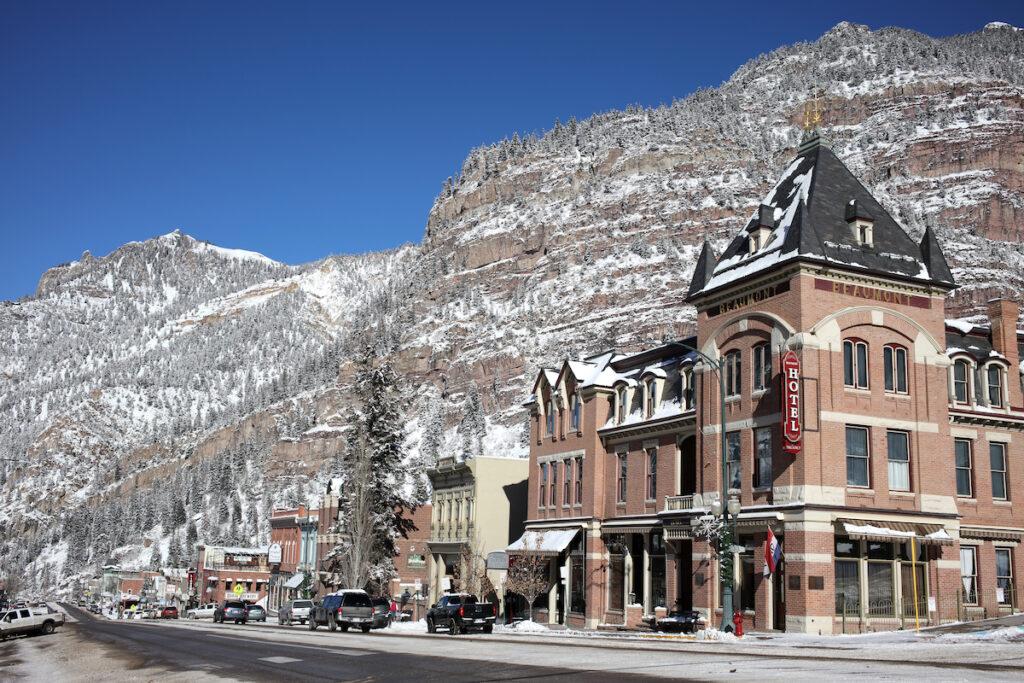 Quaint downtown Ouray, Colorado.