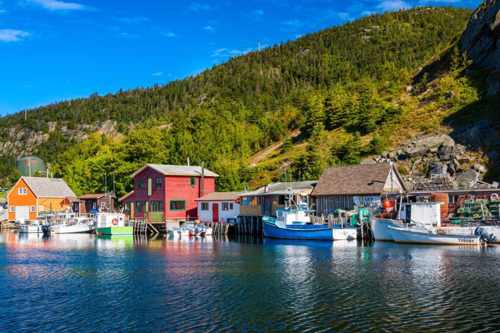 Quidi Vidi Harbour in St. John's, Newfoundland.