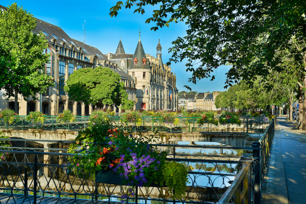 Quimper in Brittany, France.