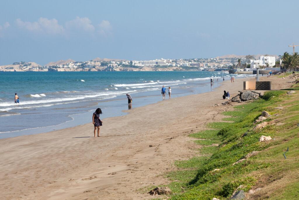 Qurum Beach in Muscat, Oman.