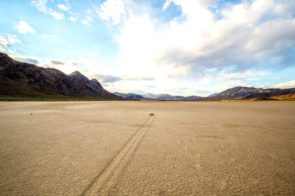 Racetrack Playa in Death Valley.