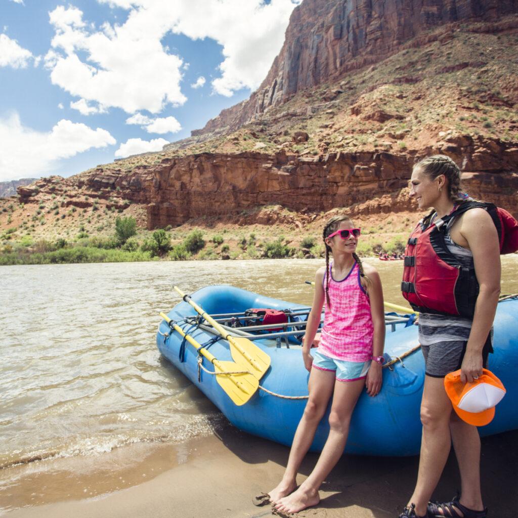 Rafting in Moab Utah.