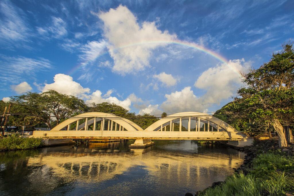 Rainbow Bridge on Oahu's North Shore.