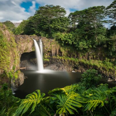 Rainbow Falls in Hilo, Hawaii.