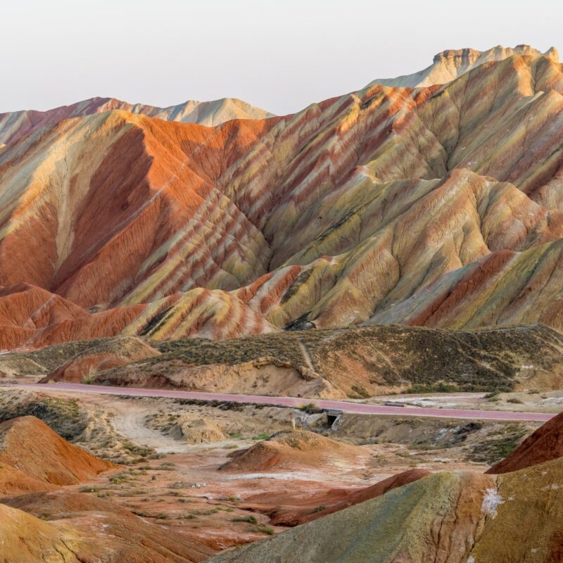 Rainbow Mountains, Zhangye Danxia National Geopark.