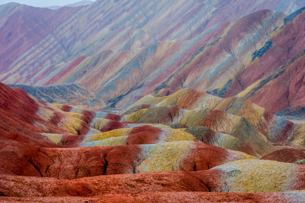 Rainbow Mountains, Zhangye National Geopark, China.