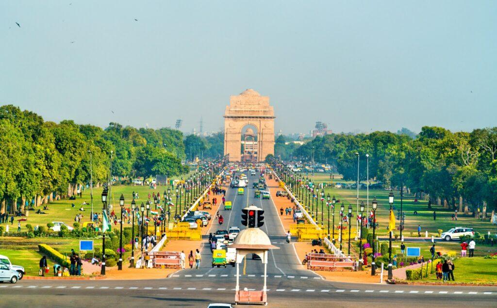 Rajpath ceremonial boulevard in Delhi.