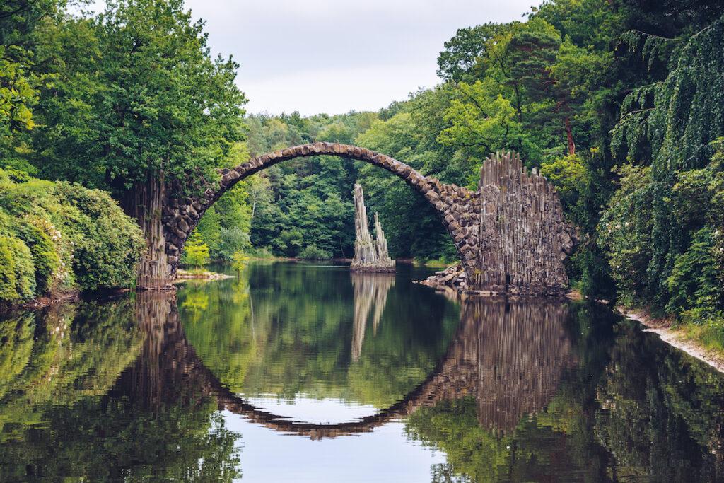 Rakotzbrucke, a bridge in Kromlau, Germany.