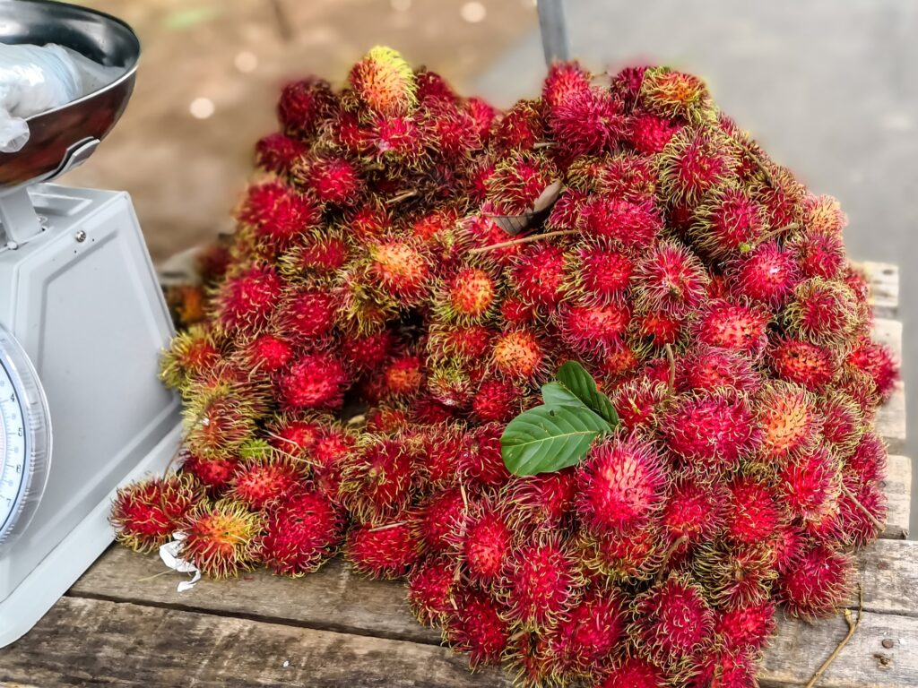 Rambutans for sale in Costa Rica.