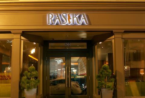 Rasika restaurant front entrance Washington DC