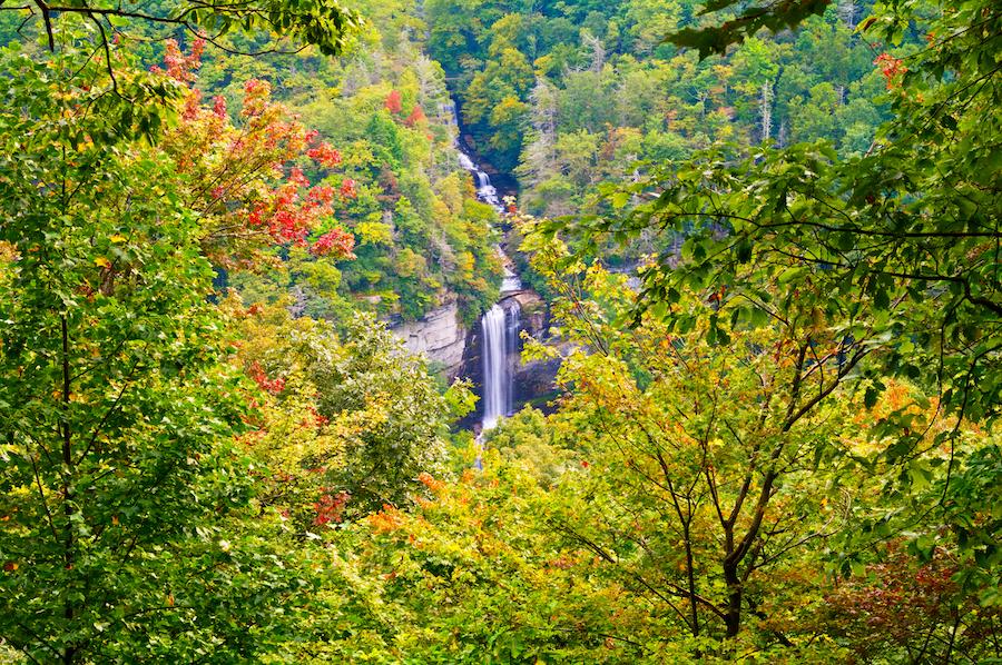 Raven Cliff Falls in Caesars Head State Park.