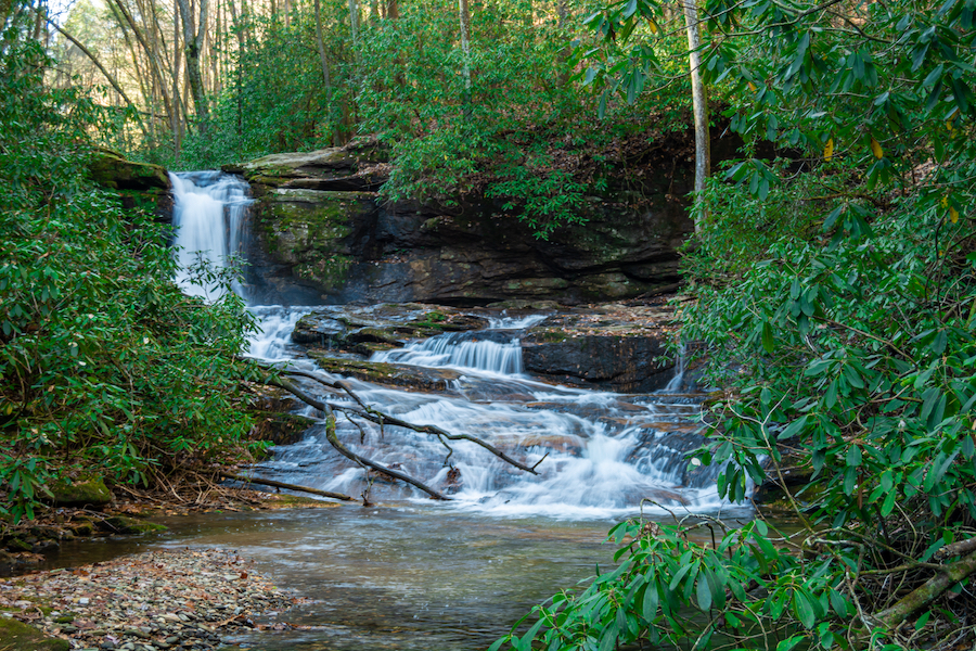 Raven Cliffs Falls near Cleveland, Georgia.