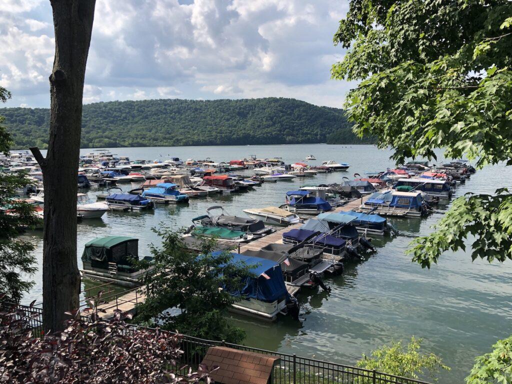 Raystown Lake from Marina Cafe in Entriken, Pennsylvania.