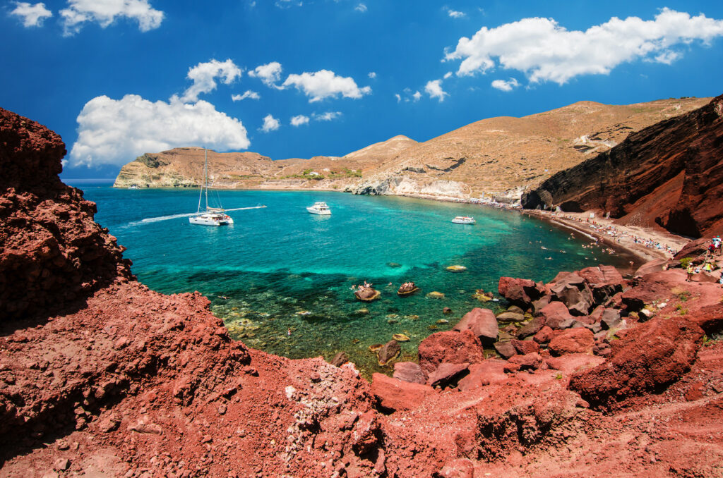 Red Beach in Santorini, Greece.