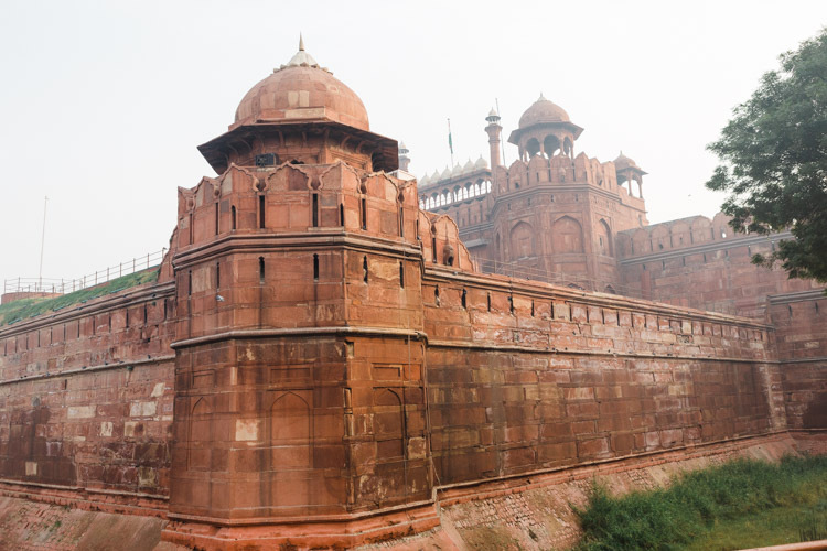 Red Fort Monument in Delhi.