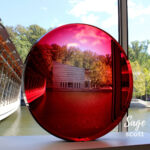 Red Lens at Crystal Bridges in Bentonville, Arkansas.