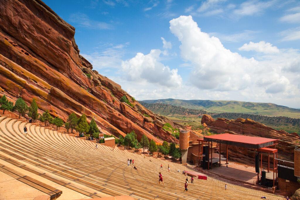 Red Rocks Amphitheater in Morrison, Colorado.