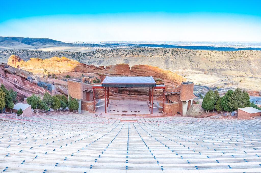 Red Rocks Amphitheater near Golden, Colorado.