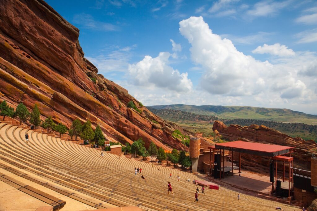 Red Rocks Amphitheatre in Colorado.