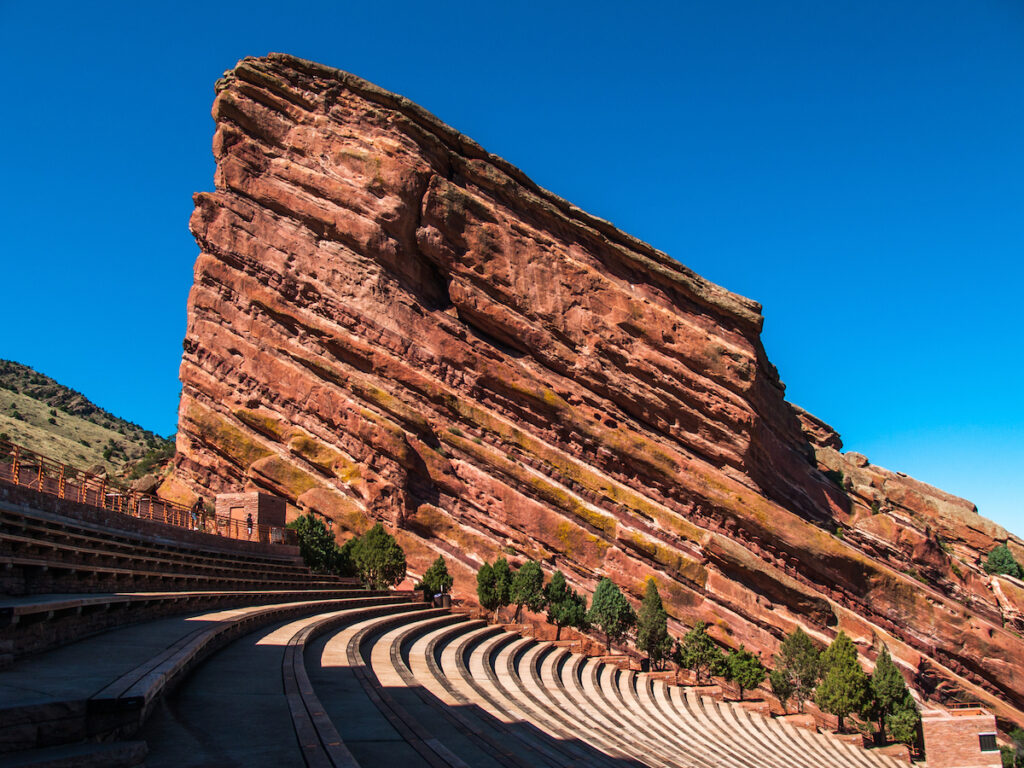 Red Rocks Amphitheatre in Colorado.