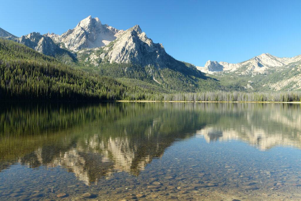 Redfish Lake in Custer County, Idaho.