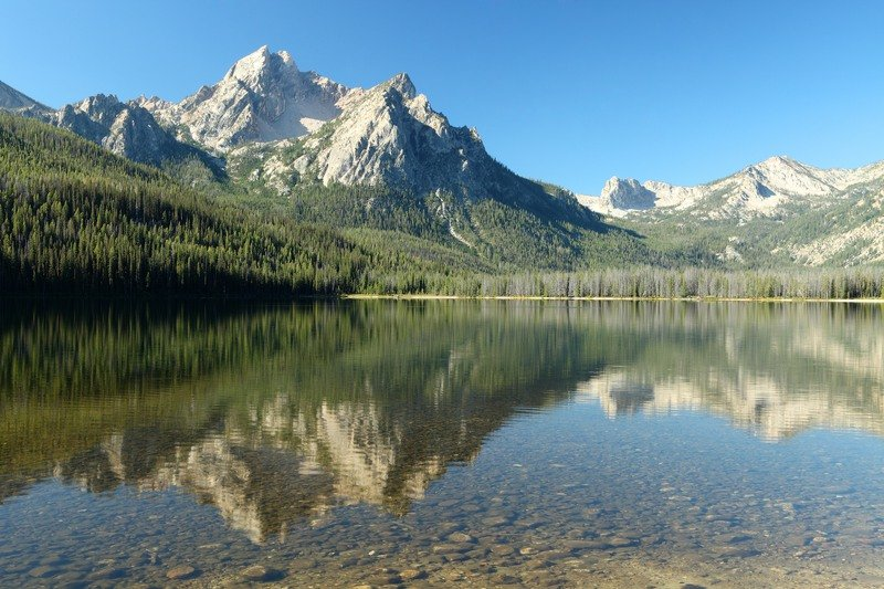 Redfish Lake in Idaho's Sawtooth National Forest.