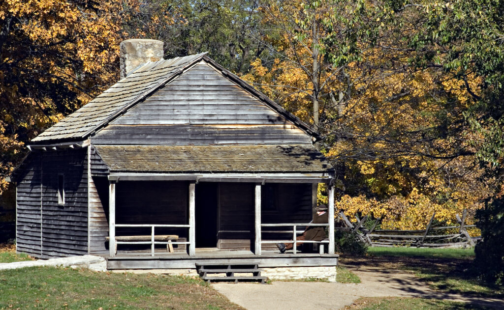 Replica of Abraham Lincoln's grocery store in New Salem Village, IL.
