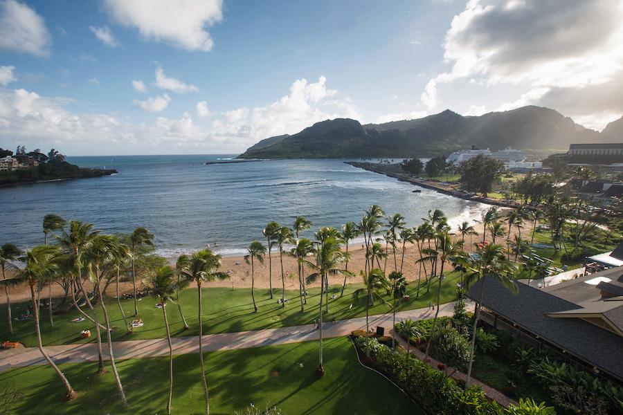 Resort views in Lihue, Kauai.