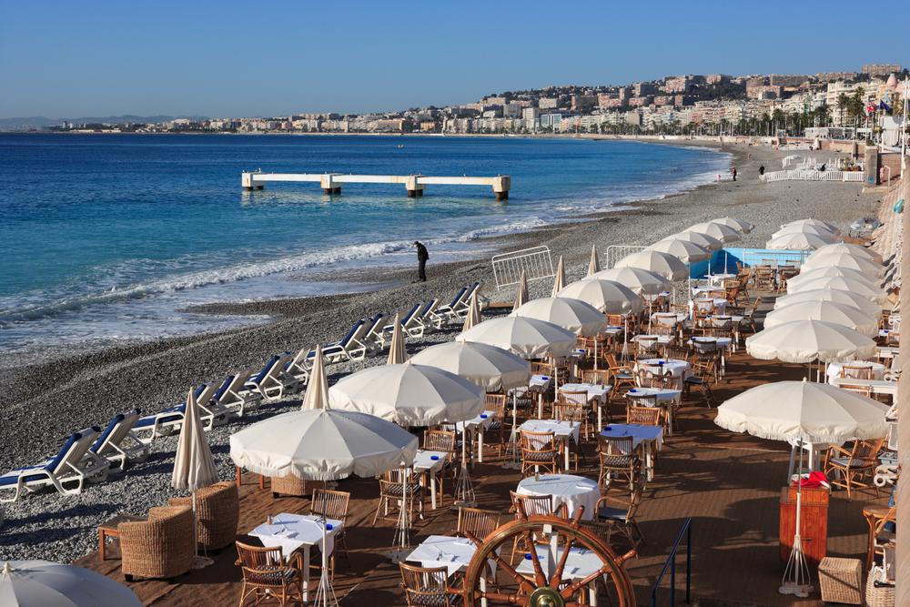 restaurant on beach in nice