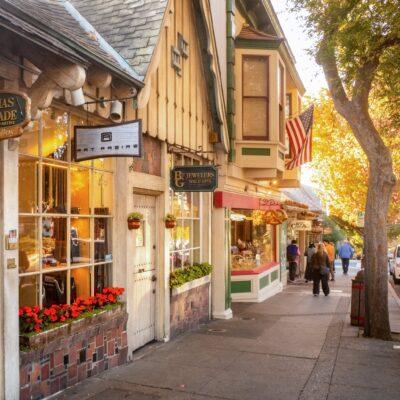 Restaurants in downtown Carmel-By-The-Sea, California.