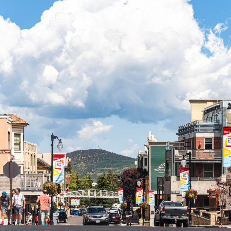 Restaurants in Downtown Park City, Utah.