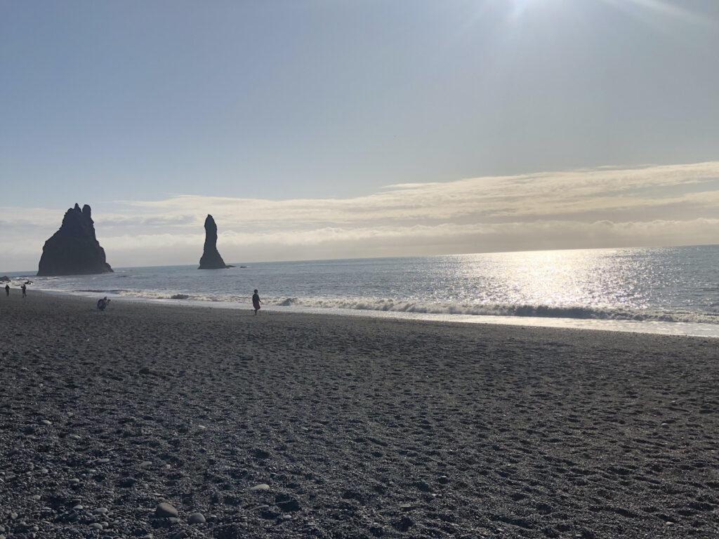 Reynisfjara, a black sand beach in Iceland.