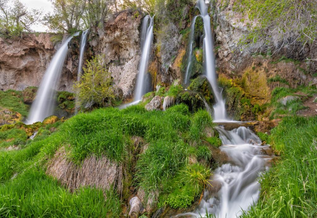 Rifle Falls, near the town of Rifle, Colorado.