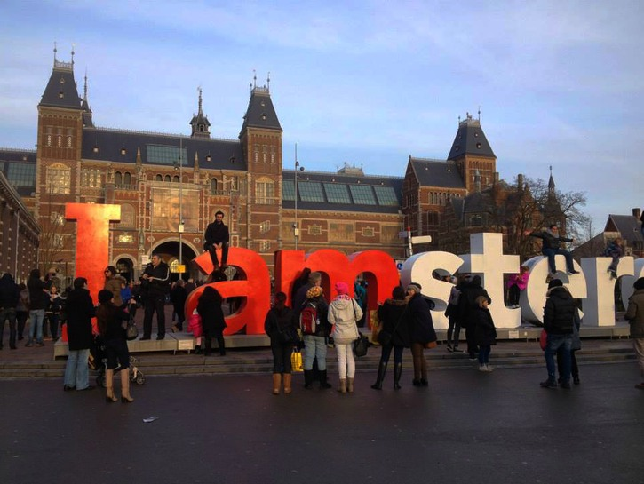 Rijksmuseum and the 'I Amsterdam' sign