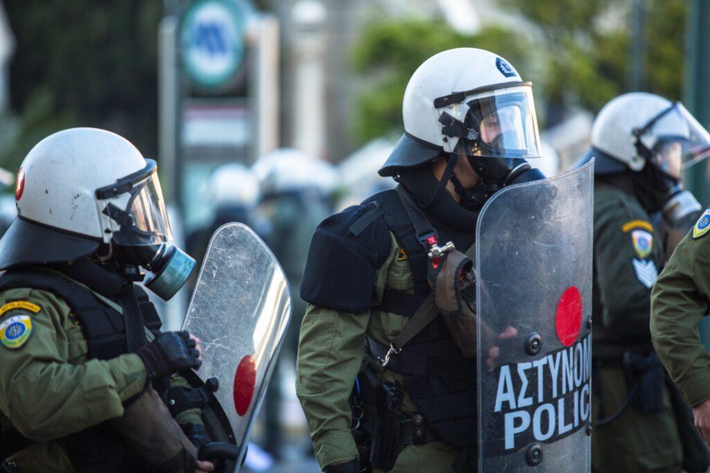 Riot police in Greece.