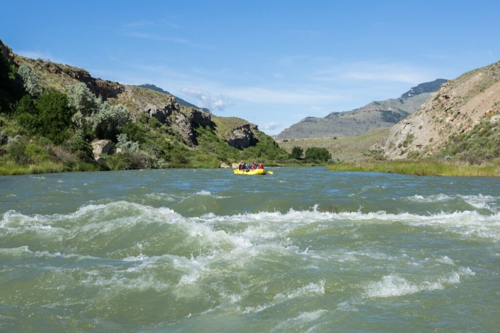 River rafting in Cody, Wyoming.