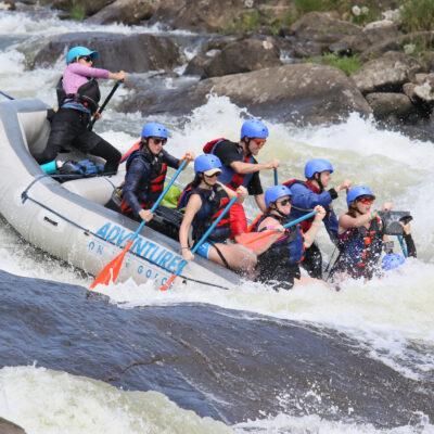 River rafting in West Virginia.