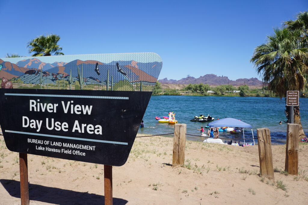 River View Day Use Area in Parker, Arizona.