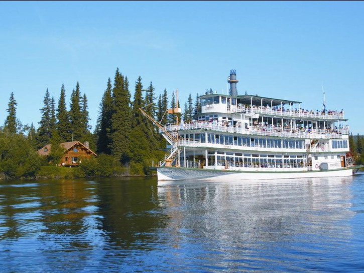 Riverboat Discovery on the river in Fairbanks, Alaska